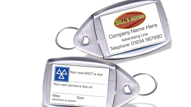 MOT Reminder Key Fobs