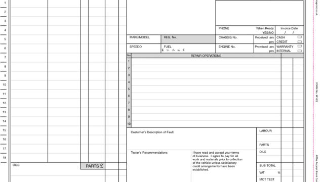 Service Repair Invoices