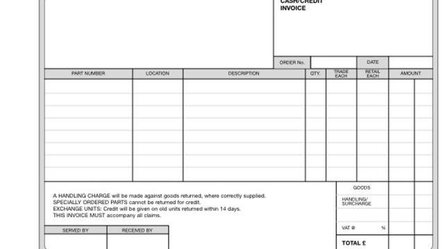 Cash/Credit Invoice