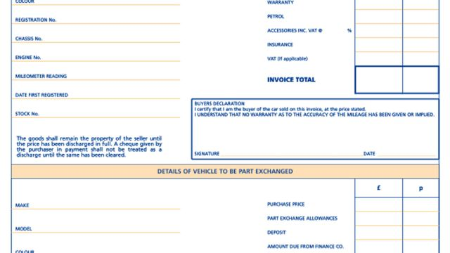 Used Vehicle Invoices