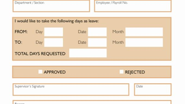 Holiday Request Forms
